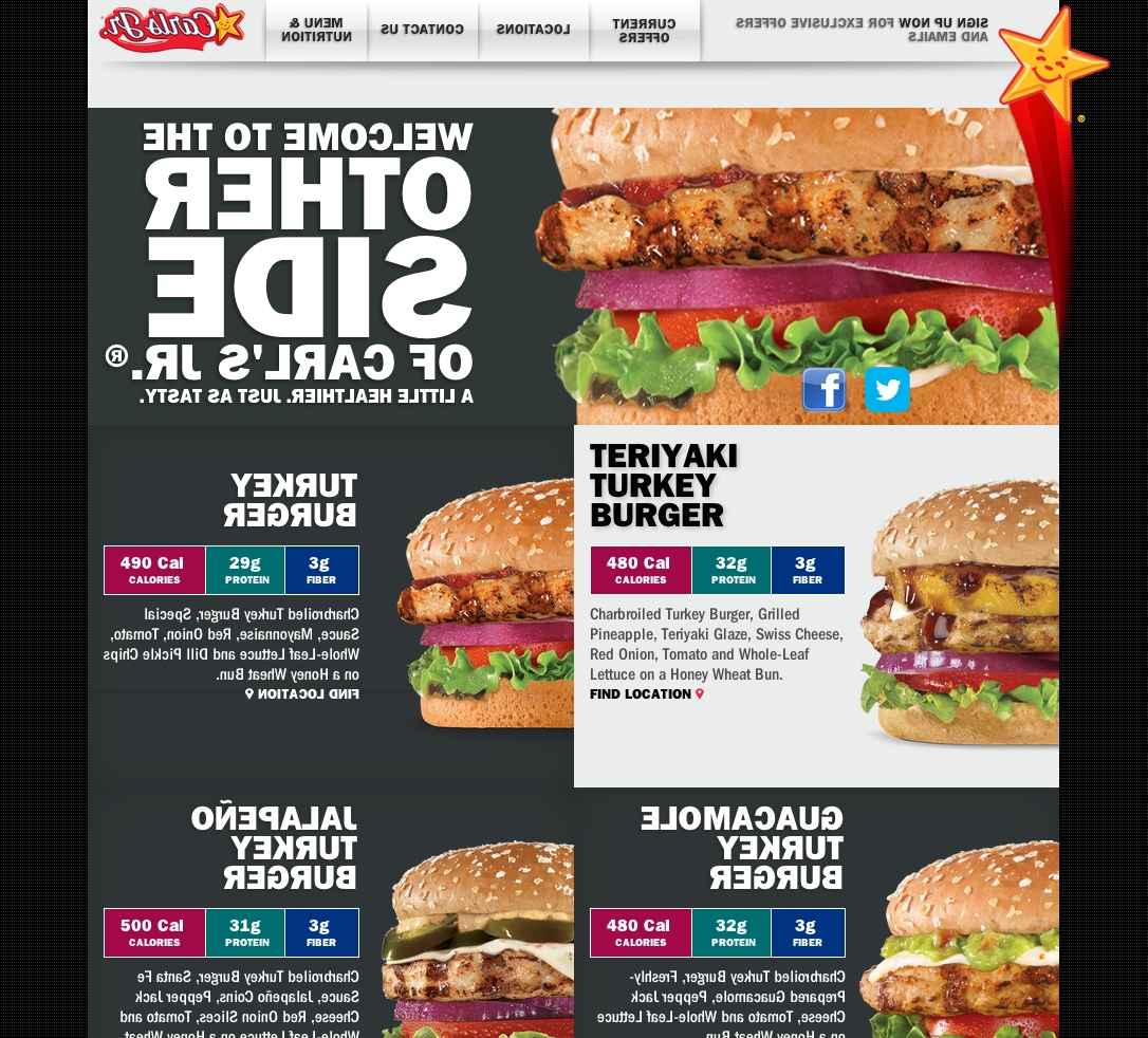 """This week, Carl's Jr. and Hardee's launched their """"Other Side"""" websites featuring their not-so-secret menu of lower carb, lower calorie or lower fat options. (Graphic: Business Wire)"""