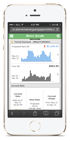 Energy Engage Mobile allows consumers to take control of their electricity, water, and gas consumption on-the-go
