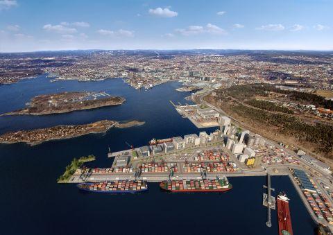 Imagen de la nueva terminal de contenedores en Sjursøya en Oslo. (Foto: Business Wire)
