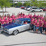 American Modern Insurance Group unveils the completed restoration of a 1965 Chevrolet Chevelle Malibu SS, during a collector car show held Thursday, July 10 in Amelia, OH. (Photo: Business Wire)