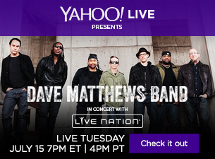 Initial artist line up announced for the Live Nation Channel on Yahoo Screen. (Graphic: Business Wire)