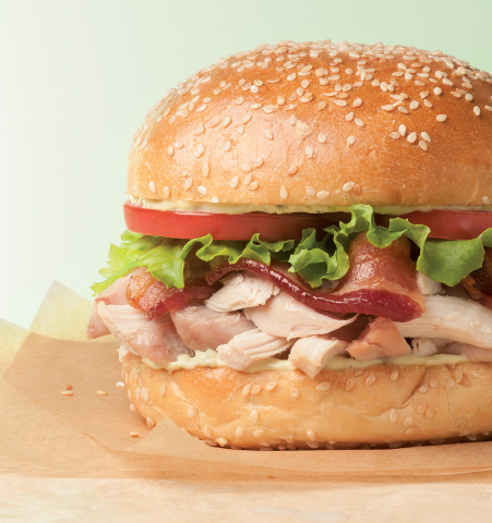 "Boston Market enters the ""burger wars"" with the launch of its new BLT Rotisserie Chicken Burger. (Photo: Business Wire)"