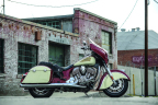 Indian Motorcycle's all-new 2015 Indian Chieftain in Indian Motorcycle Red and Ivory Cream two-tone paint scheme (Photo: Indian Motorcycle)