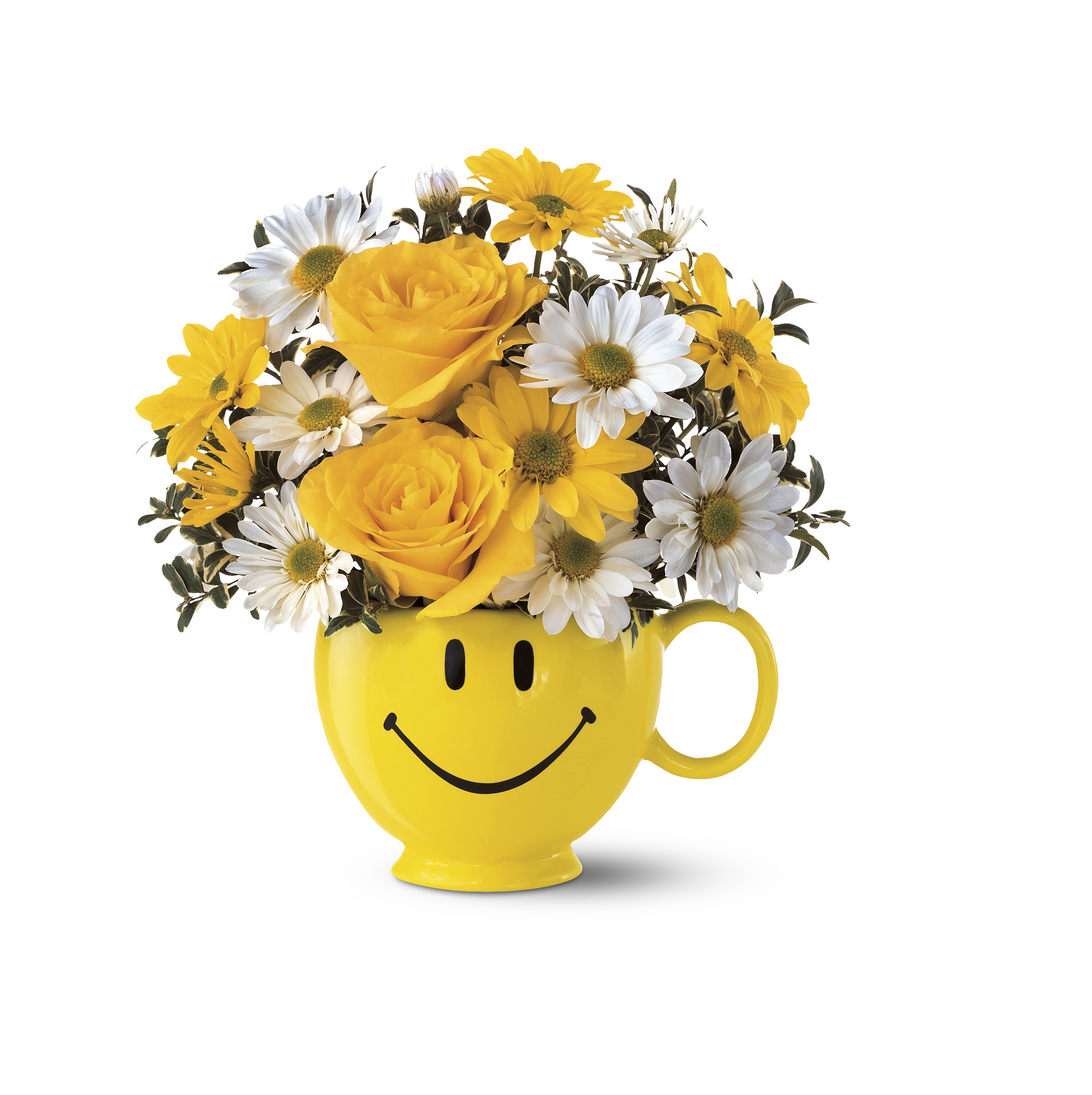 Teleflora's Be Happy Bouquet for Make Someone Smile® Week. (Photo courtesy of Teleflora.)