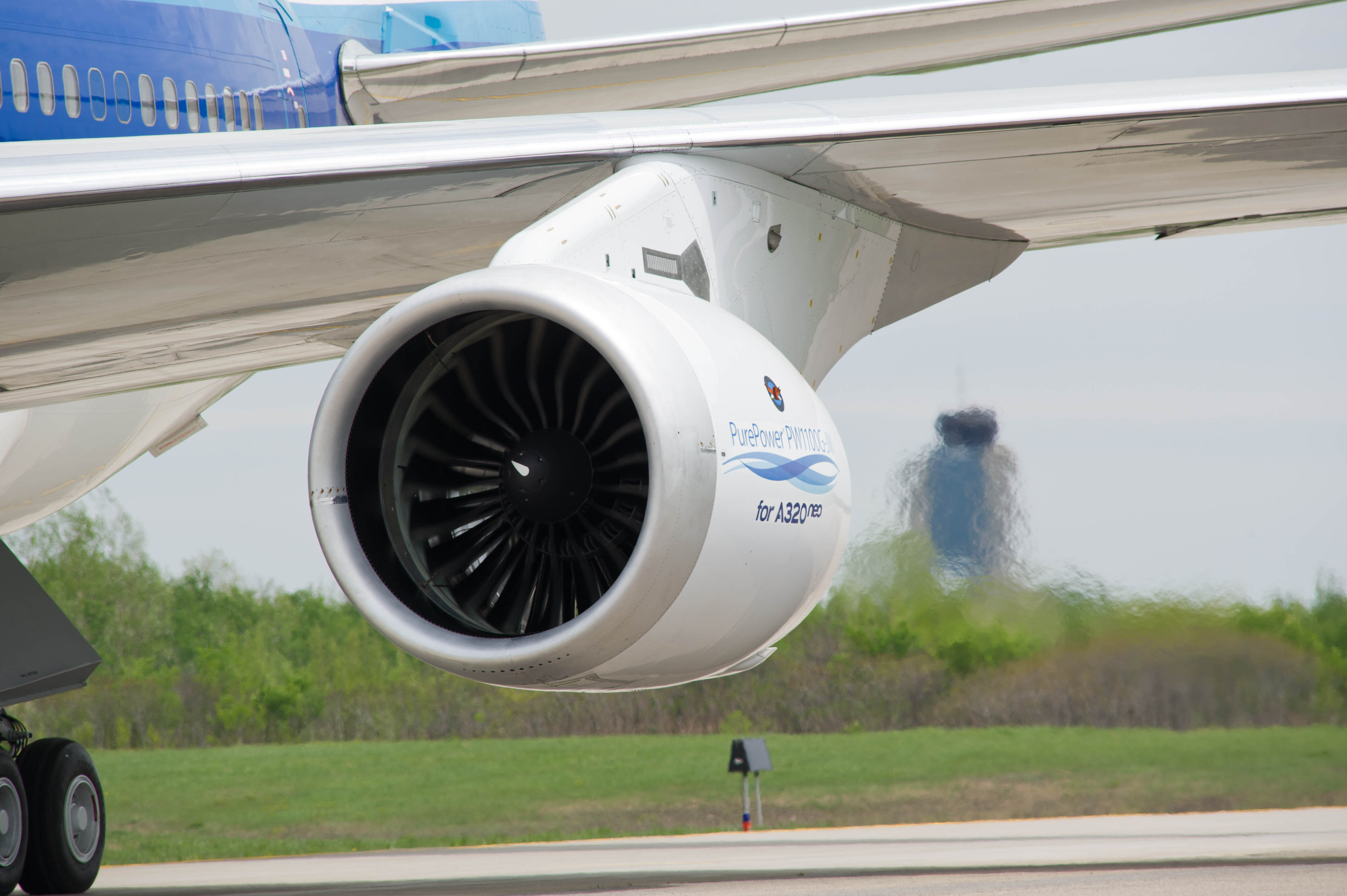 Alcoa announced a 10-year, $1.1 billion agreement with Pratt & Whitney, a division of United Technologies Corp., for state-of-the-art jet engine components including the forging for the first ever aluminum fan blade for Pratt & Whitney's PurePower(R) engines, shown here. (Photo courtesy of Pratt & Whitney)