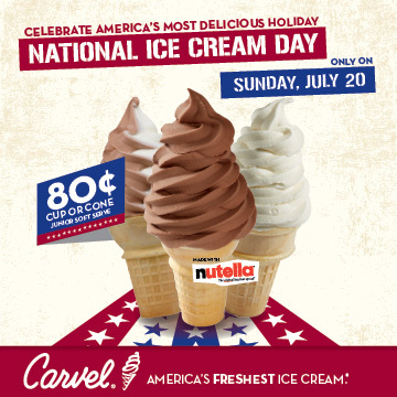 Carvel Celebrates 80th Anniversary Milestone in National Ice Cream Day Promotion (Graphic: Business Wire)