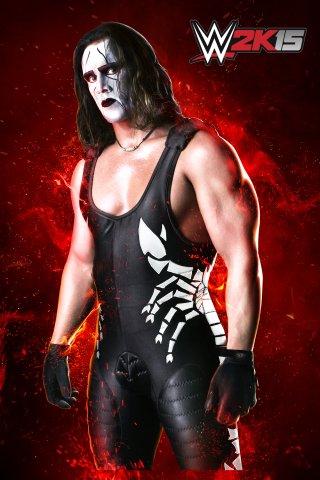 """One of the most popular and revered competitors in WCW(R) history, Sting will be featured in WWE 2K15 through two unique playable characters: the mysterious, ghost-like persona with trademark black and white face paint who was the face of WCW during the """"Monday Night War"""" era, as well as his earlier look, sporting bright colors and a blond, flattop hairstyle. In celebration, a unique promotional trailer highlighting Sting's WWE 2K15 inclusion may be viewed at http://youtu.be/diOtZg4mJRU. (Photo: Business Wire)"""