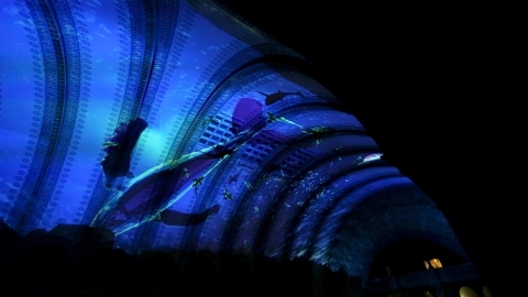 Stunning Technomedia visuals create a destination experience for Union Station visitors. (Photo: Business Wire)