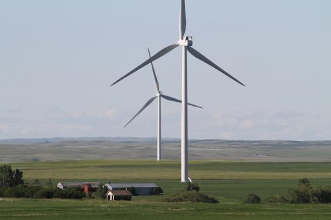 300 megawatt Blackspring Ridge Wind Project near Carmangay is co-owned by EDF EN Canada and Enbridge ...