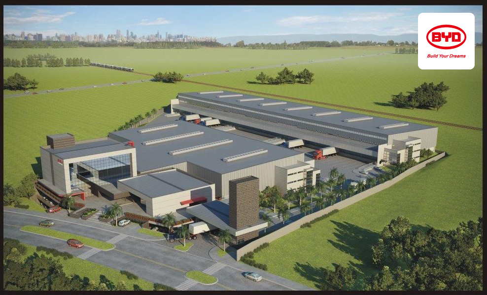 BYD's Electric Bus and Battery Assembly Plant in Sao Paulo Brazil near the City of Campinas opening in 2015 (Graphic: Business Wire)