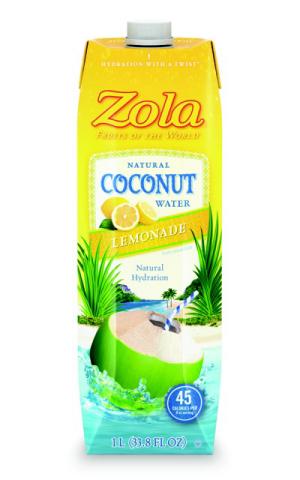 Hydration With a Twist: Zola Coconut Water Lemonade (Photo: Business Wire)