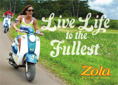 """Zola® Fruits of the World™ Summer Campaign and Webisode Series Encourages Consumers to """"Live Life to the Fullest"""" (Photo: Business Wire)"""