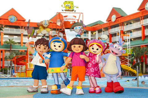 Dora and Nick Jr Friends at the Nickelodeon Suites Resort in Orlando. (Photo: Business Wire)
