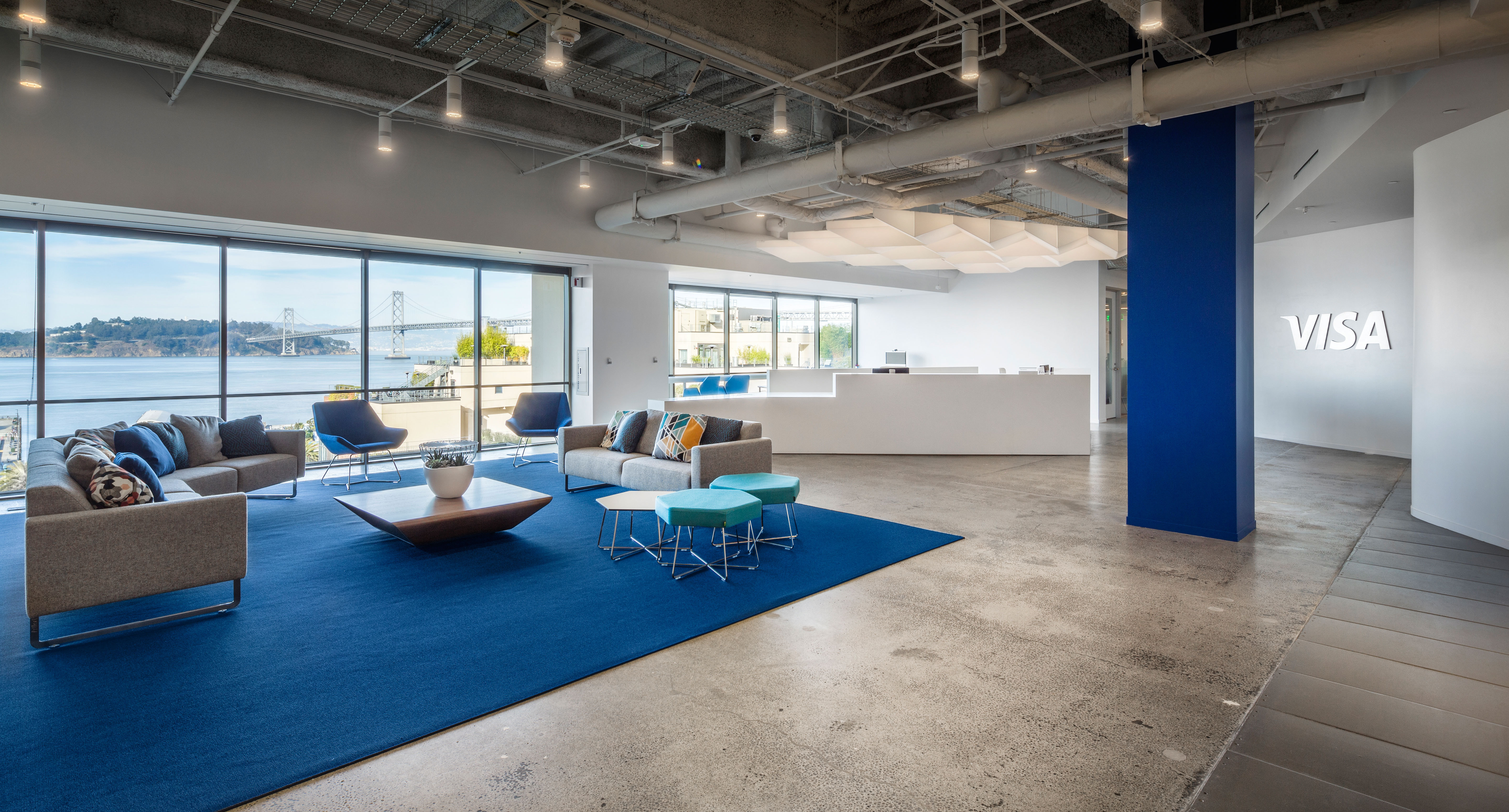 Visa opens san francisco technology center to advance for It company office design