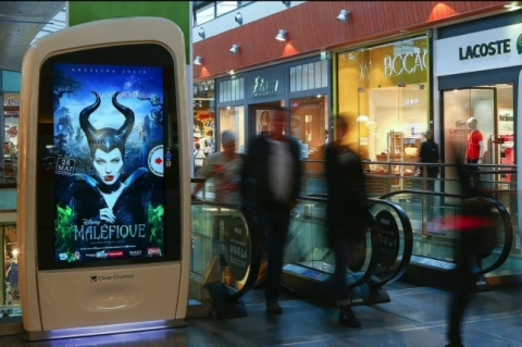 "Using Connect, Disney promoted new film ""Maleficent"" in France, running interactive displays on roug ..."