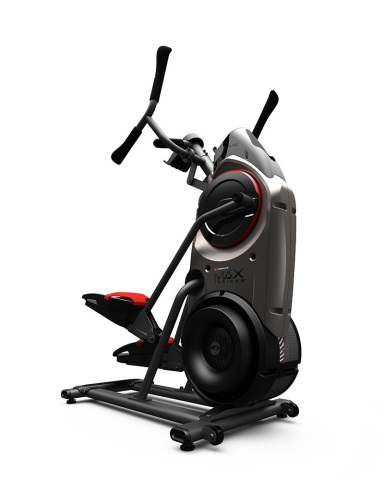 The Bowflex Max Trainer(TM) combines the motion of an elliptical and stair stepper to help users bur ...