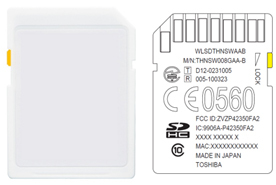 Toshiba: SDHC Memory Card with Embedded Wireless LAN Communications for Developers of Business Produ ...