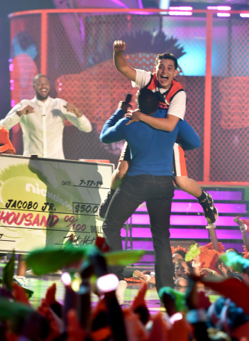 Photo credit: Nickelodeon Los Angeles local Ricardo Jacobo Jr. makes remarkable half-court shot, stu ...