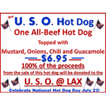 Pink's Celebrates National Hot Dog Day Benefiting USO at LAX (Graphic: Business Wire)