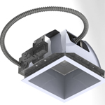 TERRALUX's new DLSQ8 LED Downlight fixture and LED retrofit kit replaces CFL fixtures (Photo: Business Wire)