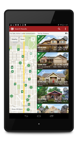 The Redfin Real Estate App is now available to download on Android tablets. (Photo: Business Wire)