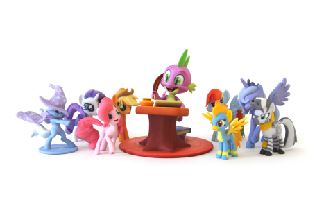 Global branded play leader, Hasbro, Inc. and Shapeways, the leading 3D printing marketplace and community, have teamed up to launch SuperFanArt, a website that enables fans inspired by Hasbro brands to showcase their artwork and sell their 3D printed designs on Shapeways. SuperFanArt debuts with pop culture phenomenon MY LITTLE PONY, inviting fans around the globe to create and share their inspired designs. (Photo: Business Wire)