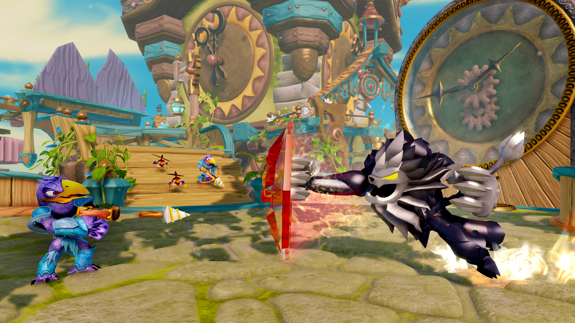 Skylanders Trap Team Dark Edition Wildfire Screenshot (Photo: Business Wire)