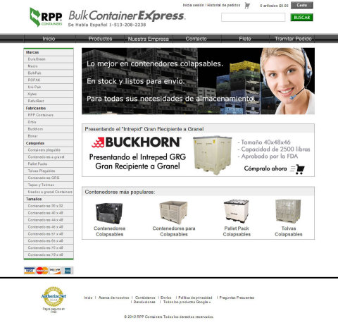 RPP Containers® Launches New Website for Spanish-Speaking Customers (Graphic: Business Wire)