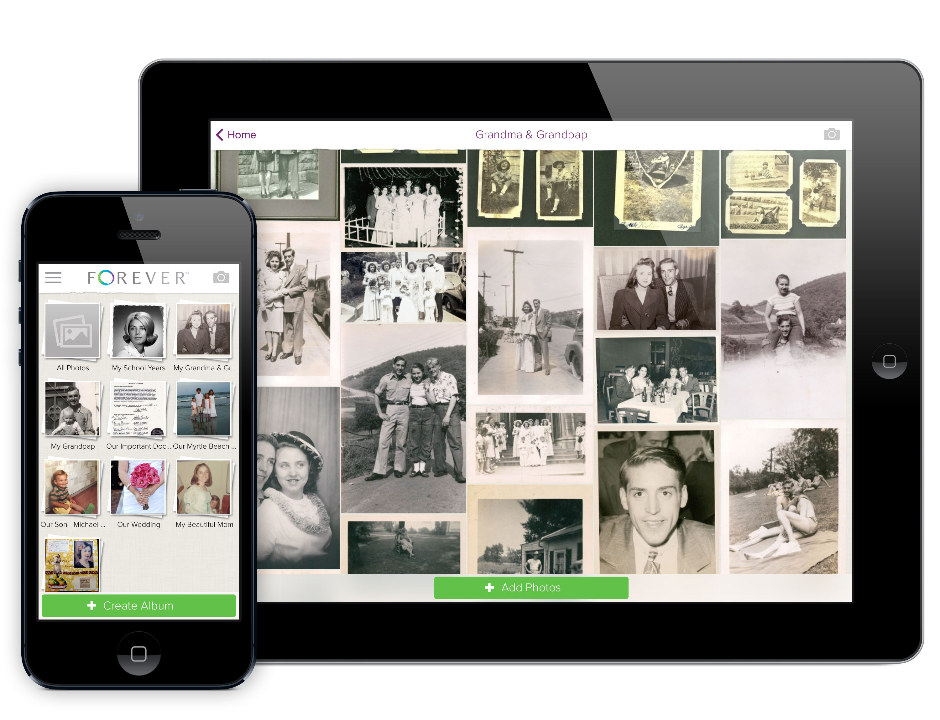 forever launches award winning ios app for iphone and ipad business wire - Ipad And Iphone Mockup