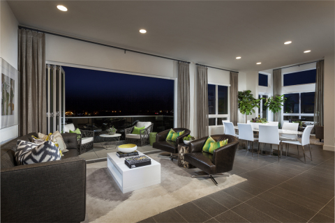 Enjoy the great outdoors from your living room at KB Home's Skylar at Playa Vista. (Photo: Business Wire)