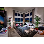 Living area at KB Home's Skylar at Playa Vista in Los Angeles. (Photo: Business Wire)