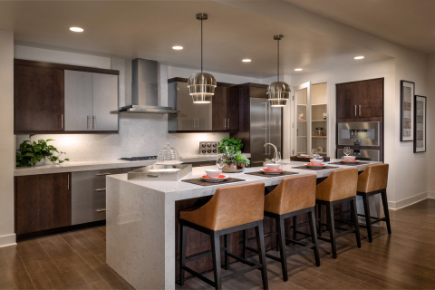 Kitchen at KB Home's Skylar at Playa Vista in Los Angeles. (Photo: Business Wire)