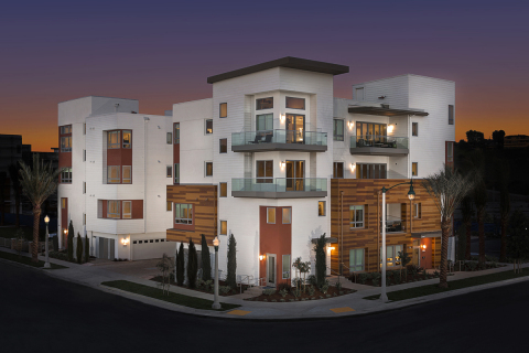 Exterior view of KB Home's Skylar at Playa Vista in Los Angeles. (Photo: Business Wire)