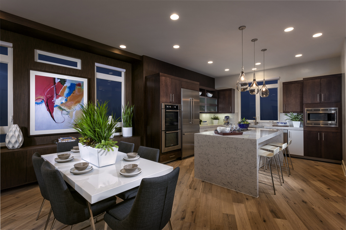 Kitchen space at KB Home's Asher at Playa Vista in Los Angeles. (Photo: Business Wire)