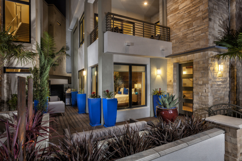Outdoor living space at KB Home's Asher at Playa Vista in Los Angeles. (Photo: Business Wire)