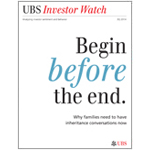 UBS Investor Watch report breaks the awkward silence around inheritance. (Graphic: Business Wire)