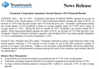 Trustmark Corporation Announces Second Quarter 2014 Financial Results