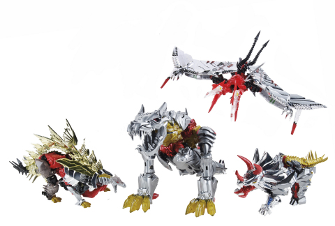 TRANSFORMERS DINOBOTS Action Figure Collection Available at Booth #3329 at Comic-Con International in San Diego. Following the convention, a limited number will be available for purchase online at HasbroToyShop.com for an approximate retail price of $159.99. (Photo: Business Wire)