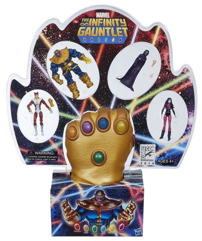 """MARVEL'S THE INFINITY GAUNTLET and 3.75"""" Action Figure Pack Available at Booth #3329 at Comic-Con International in San Diego. Following the convention, a limited number will be available for purchase online at HasbroToyShop.com for an approximate retail price of $74.99. (Photo: Business Wire)"""