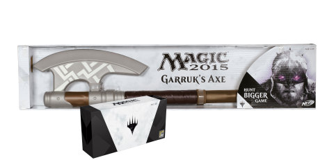 MAGIC 2015 PLANESWALKER Pack Featuring Garruk's Axe by NERF Available at Booth #3329 at Comic-Con International in San Diego. Following the convention, a limited number will be available for purchase online at HasbroToyShop.com for an approximate retail price of $110.99. (Photo: Business Wire)