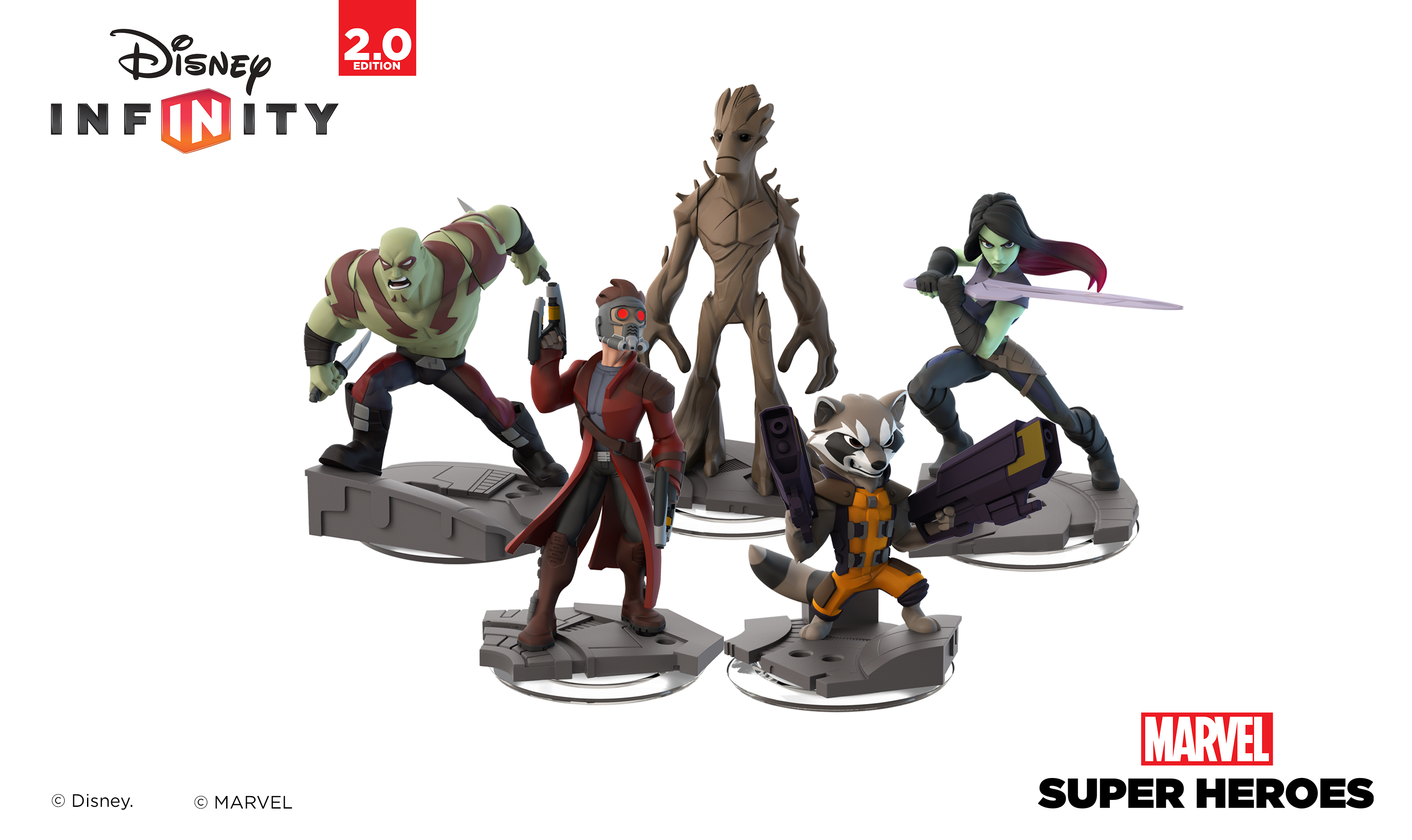 Marvel's Guardians of the Galaxy Play Set Figures for Disney Infinity: Marvel Super Heroes (Photo: Business Wire)