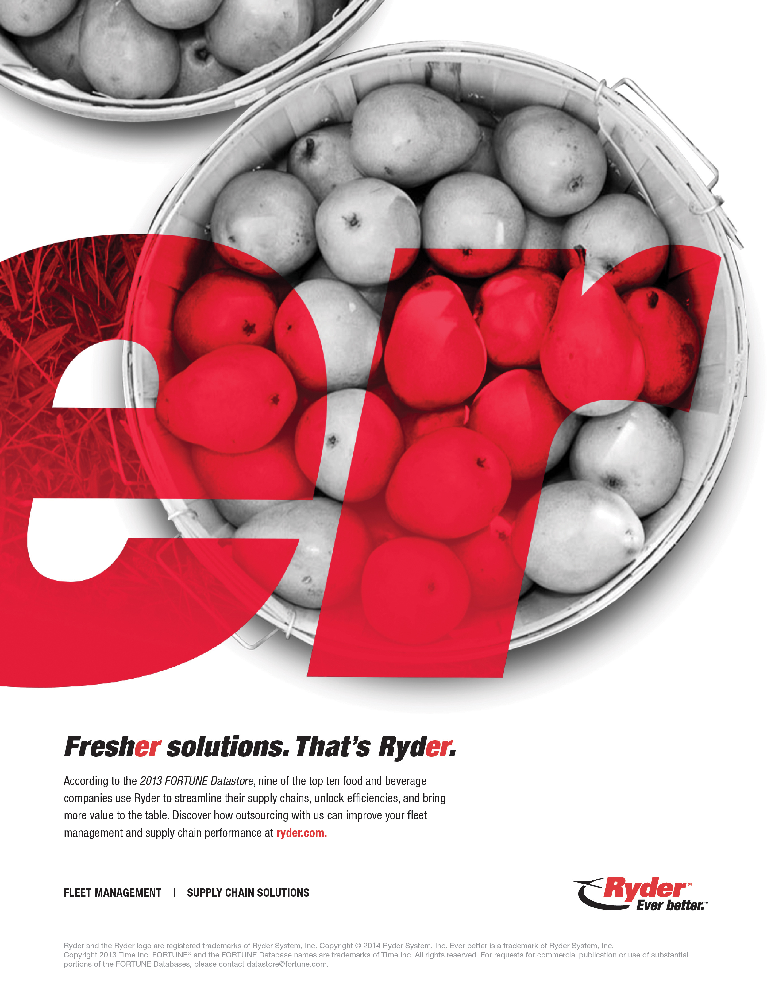 """Ryder """"Fresher Solutions"""" print ad. (Graphic: Business Wire)"""