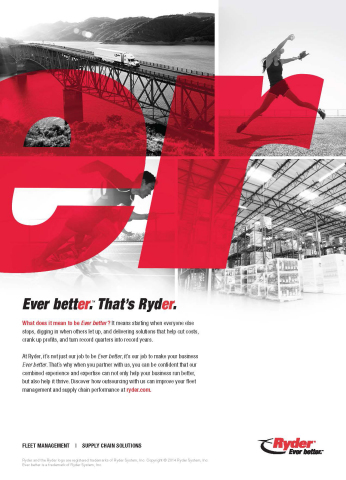 "Ryder ""Ever better"" launch print ad. (Graphic: Business Wire)"