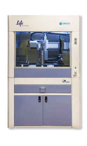 The CPA300 offers labs a fully automated, walk-away system that integrates sample card punching, liquid handling and 96 well plate sealing for forensic, paternity and research applications. (Photo: Business Wire)