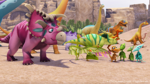 On August 18, PBS KIDS premieres a new DINOSAUR TRAIN one-hour special: Classic in the Jurassic. Image credit: TM and (C) The Jim Henson Company. All Rights Reserved. (Graphic: Business Wire)