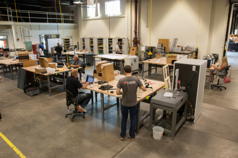 The FirstBuild lab features an electronics prototyping center, laser cutter, hardware components and the latest tools and technology. (Photo: GE)