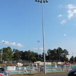City leaders in Vestavia Hills, Ala., report that replacement of outdated lighting with highly efficient illumination at the city's sports fields, pool (shown here) and tennis courts is generating a nearly 50 percent decrease in energy usage. (Photo: Business Wire)