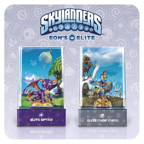 Elite Spyro and Elite Chop Chop. Two of eight must-have collectible versions from