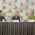 "In this photo distributed by Activision Publishing Inc., renowned comic book writer Ron Marz (R) participates in the ""Skylanders: The Creative Process of Bringing Toys to Life"" panel at San Diego Comic-Con 2014 on July 24, 2014 in San Diego, California. The panel offered insights into the development process of one of the world's most successful video game franchises of all time. Other panel speakers include famed voice of Kaos Richard Horvitz (C) and Toys for Bob's Director of Toy and Character Development, I-Wei Huang (L). (Photo by Charley Gallay/Getty Images for Activision)"