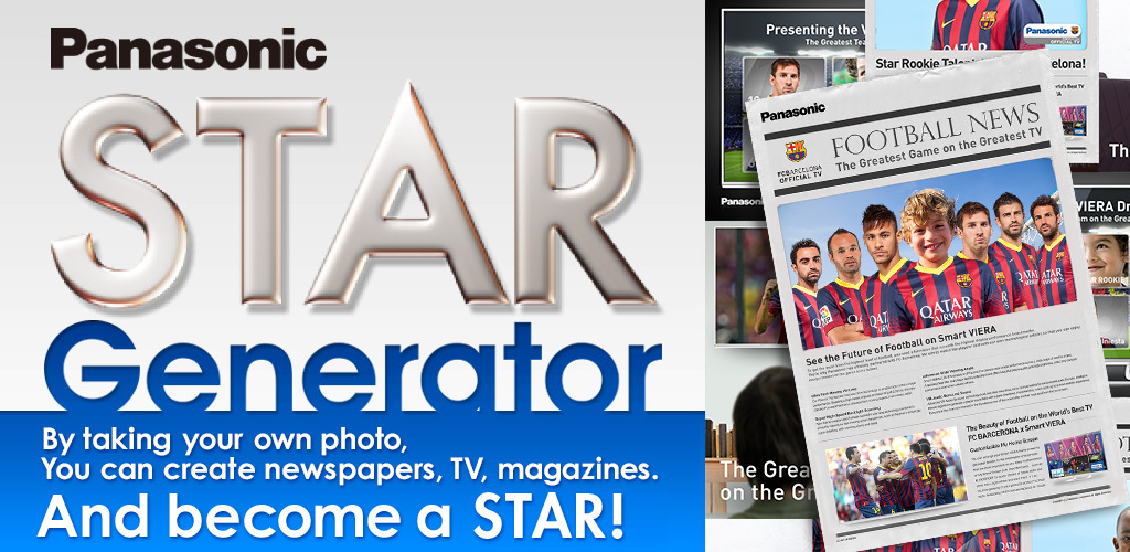 Panasonic: Barca Clock Screen Saver and Star Generator App